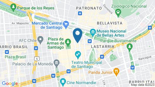 Departamentos Amoblados Torre Tagle Map