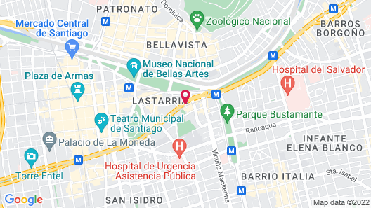 Crowne Plaza Santiago Map