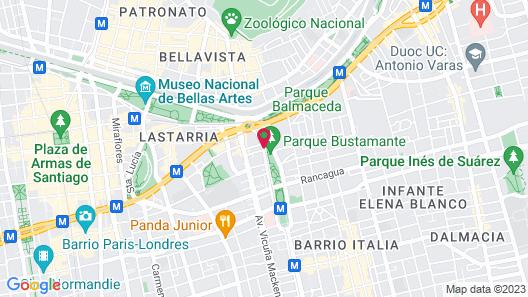Hotel Principado de Asturias Map
