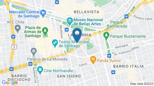 Lastarria Hotel & Aparts Map