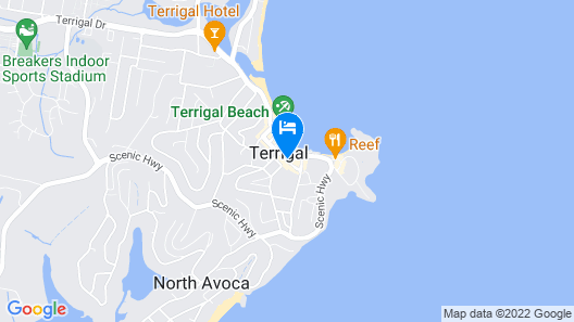 Crowne Plaza Terrigal Pacific Map