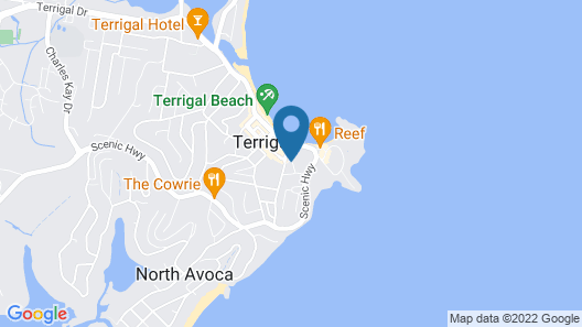 Terrigal Sails Serviced Apartments Map