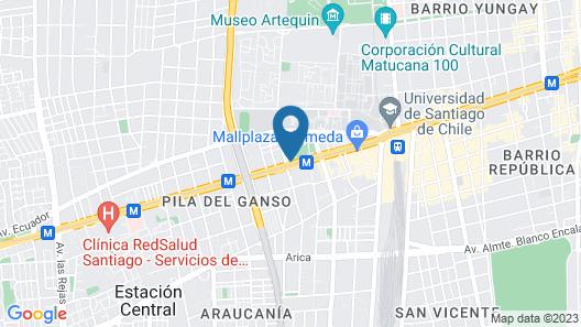 ibis Santiago Estación Central Map