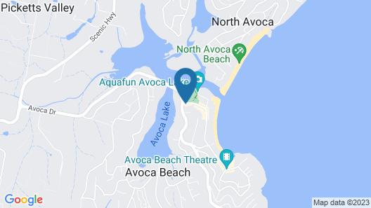 Avoca Palms Resort Apartments Map
