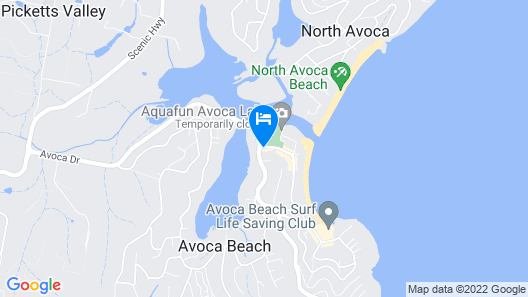 Avoca Palms Resort Apartments Map