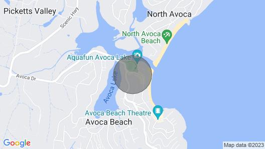 The Avenue - Beach and Bush Cabin Map