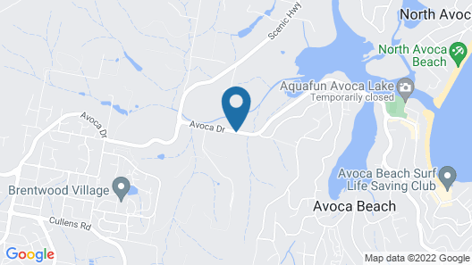 Avoca Beach Hotel Map