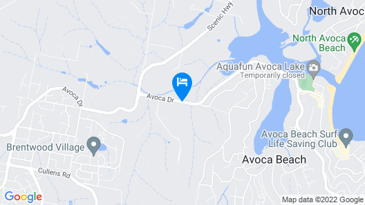 Avoca Beach Hotel Map