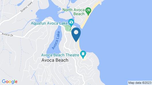Avoca Beach Front - Two Bedroom House, Sleeps 5 Map