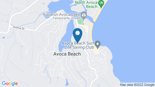 Anchor in Avoca Beach - Enjoy Your 4 Bedroom Coastal Getaway Map