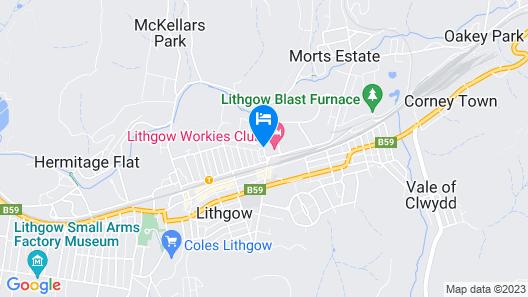 Lithgow Workies Club Motel Map