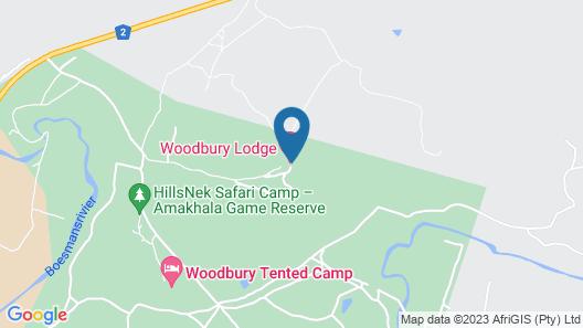 Woodbury Tented Camp-Amakhala Game Reserve Map