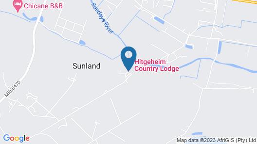 Hitgeheim Country Lodge & Eco Reserve Map