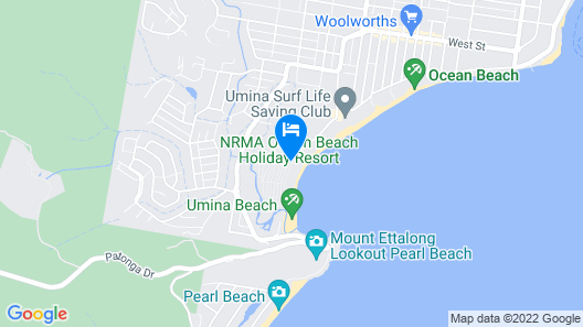 NRMA Ocean Beach Holiday Resort Map