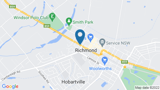 Colonial Motel Richmond Map