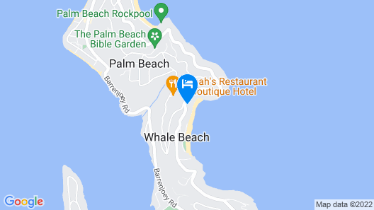 THE Archer House - Whale Beach, NSW Map