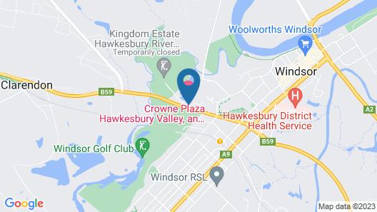 Crowne Plaza Hawkesbury Valley, an IHG Hotel Map