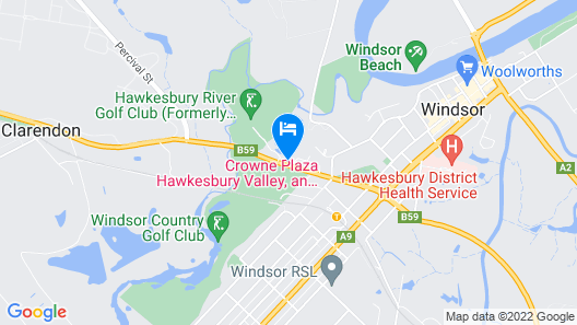 Crowne Plaza Hawkesbury Valley, an IHG Hotel Map