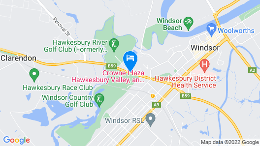 Crowne Plaza Hawkesbury Valley Map