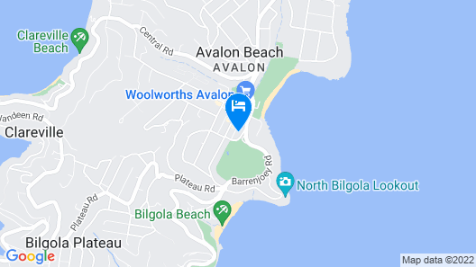 Spacious Home in the Heart of Avalon Beach Map