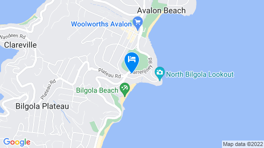 Avalon Beach Lookout Map