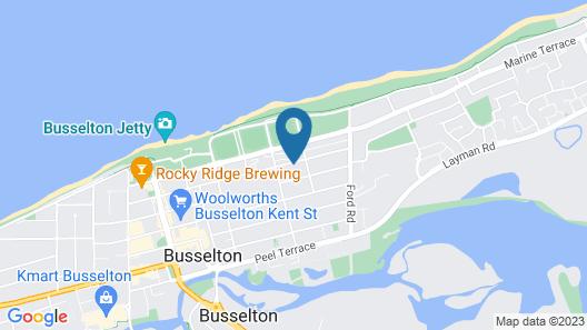 Busselton Ithaca Motel Map