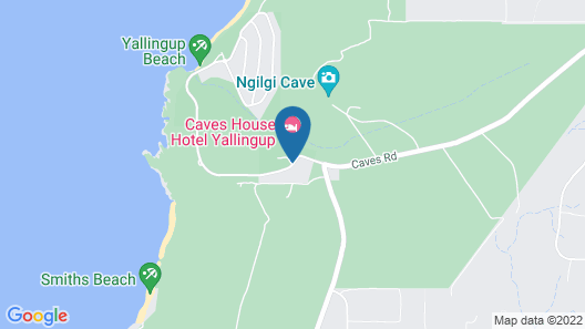 Caves House Hotel and Apartments Map