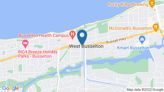 Busselton Villas and Caravan Park Map