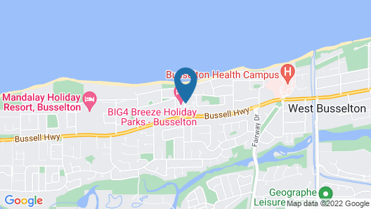 BIG4 Breeze Holiday Parks - Busselton Map