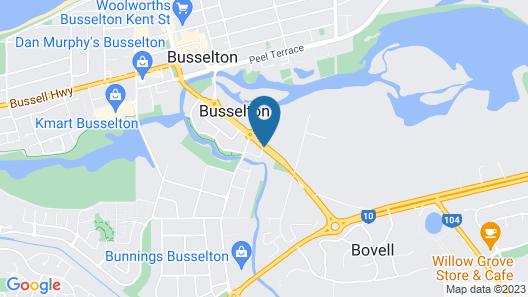 Comfort Inn Busselton River Resort Map