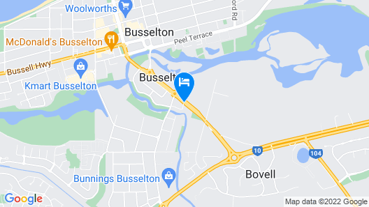 Comfort Inn Busselton River Resort Map