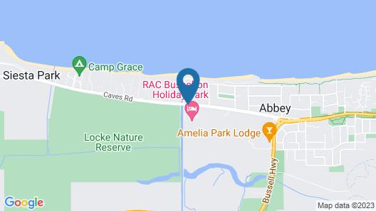 RAC Busselton Holiday Park Map