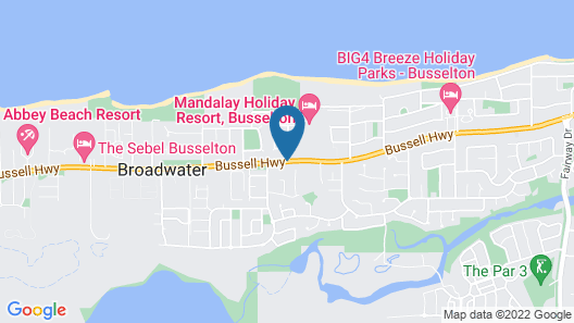 Broadwater Bed and Breakfast Map