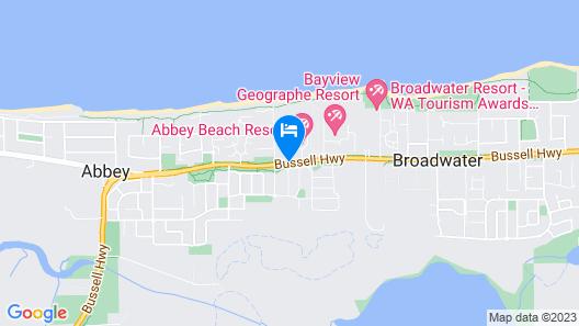 Aqua Resort Busselton Map