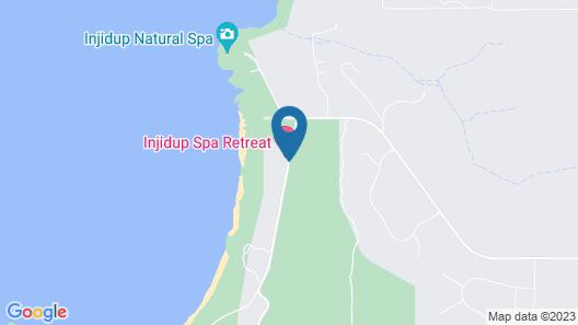 Injidup Spa Retreat Map