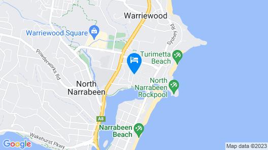 NRMA Sydney Lakeside Holiday Park Map