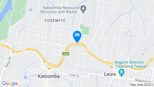 Blue Mountains G'day Motel Map
