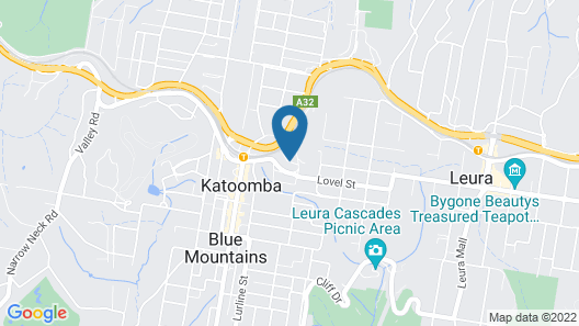 Hotel Mountain Heritage - Blue Mountains Map