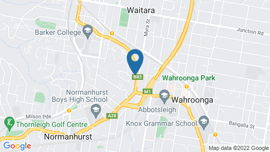 Wahroonga Waldorf Apartments Sydney Map