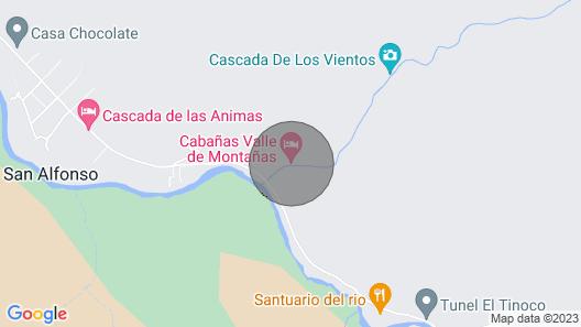 Mountain Cabin Perfect for a Family Vacation in Cajon del Maipo Chile Map