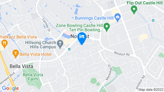 Adina Apartment Hotel Norwest Sydney Map