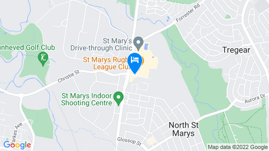 Holiday Inn Sydney St Marys Map