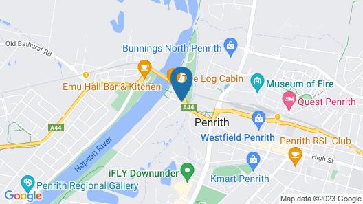 The Select Inn Penrith Map