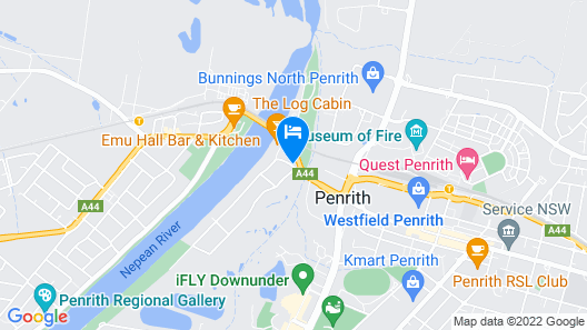 The Select Inn Penrith Map