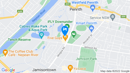 Mercure Penrith Map