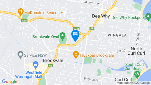 Travelodge Hotel Manly Warringah Sydney Map