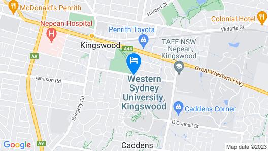 Western Sydney University Village Penrith Map