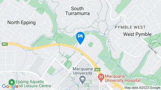 Medina Serviced Apartments North Ryde Sydney Map