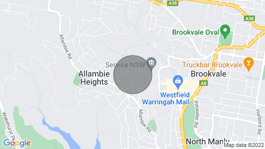 Luxurious modern house close to Manly Beach Map