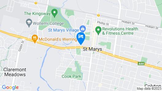 St. Marys Park View Motel Map
